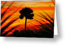 Lone Palm Florida Greeting Card