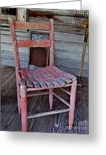 Lone Red Chair Greeting Card