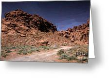 Lone Rock Road Overton Nevada  Greeting Card
