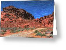 Lone Rock Road Paint  Greeting Card