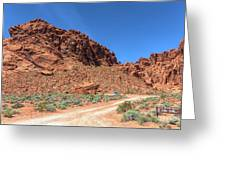 Lone Rock Valley Of Fire  Greeting Card