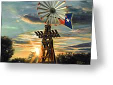 Lone Star Sky Greeting Card