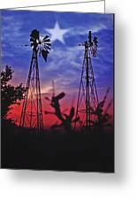 Lone Star Sunset Greeting Card