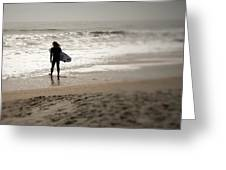 Lone Surfer II Greeting Card