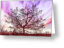 Lone Tree On The Hill Greeting Card