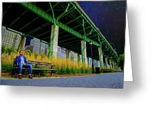 Loneliness In The City Greeting Card