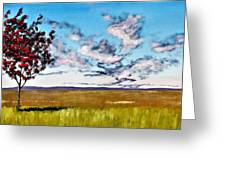 Lonely Autumn Tree Greeting Card
