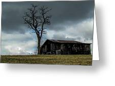 Lonely Barn Greeting Card