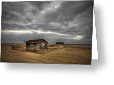 Lonely Beach Shacks Greeting Card