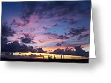 Cacti Sunset Greeting Card