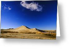 Lonely Cloud Over Sand Dunes At Bruneau Dunes State Park Idaho Usa Greeting Card