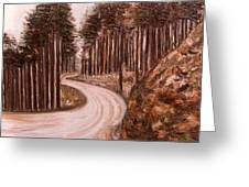 Lonely Curve Greeting Card