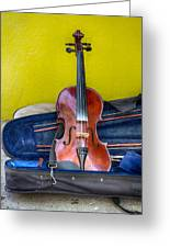 Lonely Fiddle Greeting Card