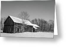 Lonely Grey Barn Greeting Card
