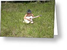 Lonely Guitar Two Greeting Card