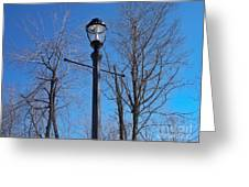 Lonely Lamp Post Greeting Card by Deborah MacQuarrie-Haig