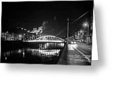 Lonely Night Bw Greeting Card