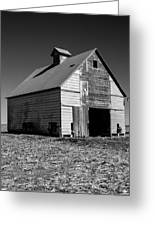 Lonely Old Barn Vertical Greeting Card