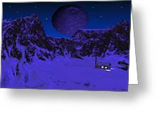 Lonely Outpost Greeting Card