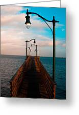 Lonely Pier Greeting Card