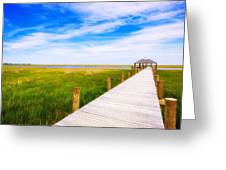 Lonely Pier II Greeting Card