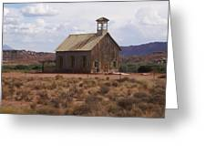 Lonely Schoolhouse Greeting Card