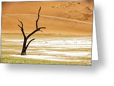 Lonely Tree Skeleton Greeting Card