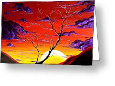 Lonely Soul By Madart Greeting Card