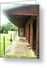 Lonely Stables Greeting Card
