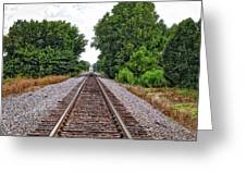 Lonely Track Greeting Card