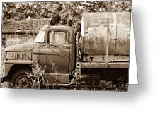 Lonely Truck Greeting Card
