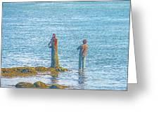 Lonesome Angler Greeting Card