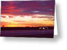 Lonesome Highway Greeting Card