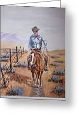 Lonesome Trail Greeting Card