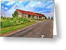 Long Barns Near Avincey - P4a16016 Greeting Card