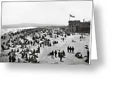 Long Beach California And Bath House C. 1902 Greeting Card