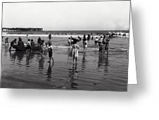 Long Beach California Bathers C. 1910 Greeting Card