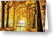 Long Before Winter - Palette Knife Oil Painting On Canvas By Leonid Afremov Greeting Card