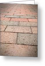 Long Bricked Walks Greeting Card