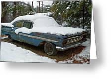 Long Cool Blue Impala Greeting Card