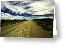 Long Dusty Road In Jal New Mexico  Greeting Card