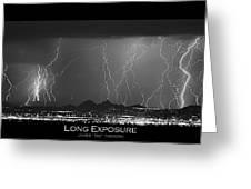 Long Exposure - Bw Poster Greeting Card