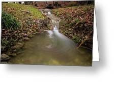 Long Exposure Picture Of Waterfall Greeting Card