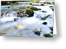Long Exposure River Shkumbin  Greeting Card