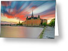 Long Exposure Stockholm Sunset Greeting Card