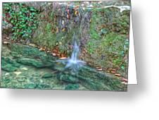 Long Exposure Waterfall Greeting Card
