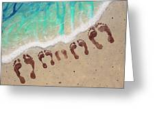 Long Family Beach Feet Greeting Card