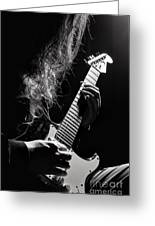 Long Hair Man Playing Guitar Greeting Card
