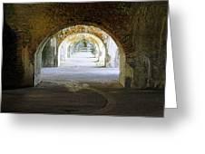 Long Hall At Fort Pickens Greeting Card