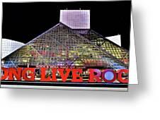 Long Live Rock Greeting Card